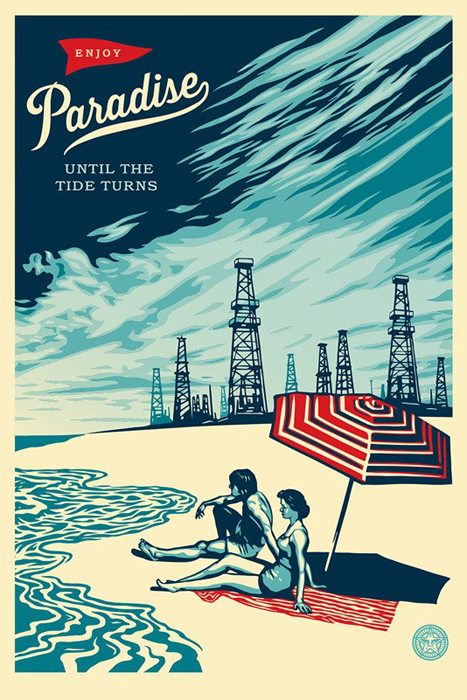 Shepard Fairey Obey offset print 2016 paradise turns
