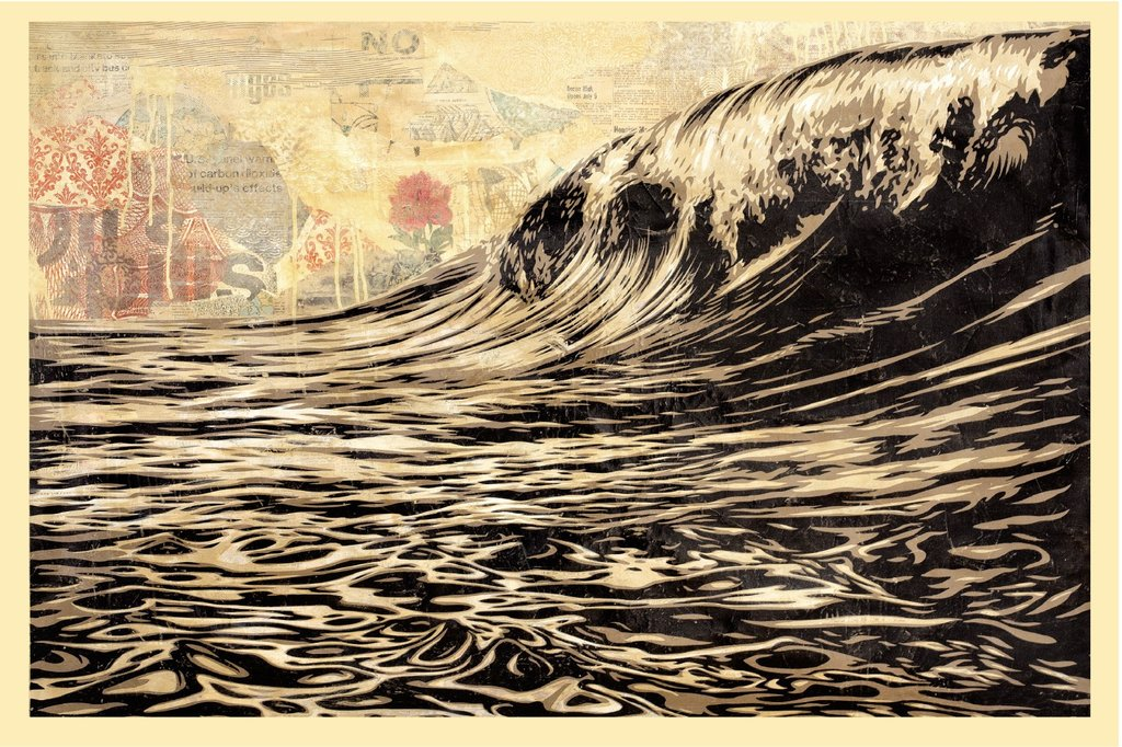 Shepard Fairey Obey offsett print  2017 dark wave