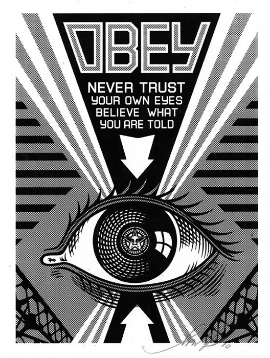 Shepard Fairey Obey silkscreen Siebdruck 2009 obey ey