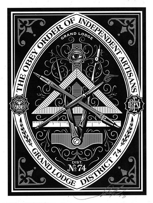 Shepard Fairey Obey silkscreen Siebdruck 2009 obey orde
