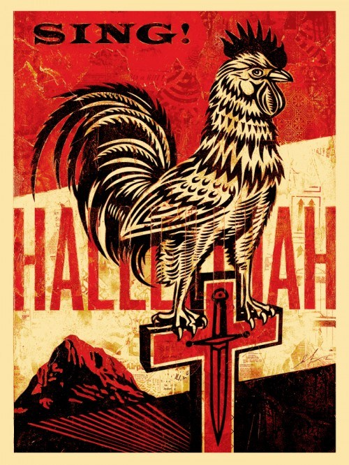 Shepard Fairey Obey silkscreen Siebdruck 2012 jesus chariot americana box set