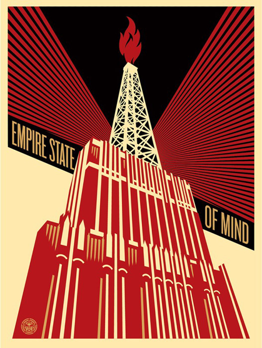 Shepard Fairey Obey silkscreen Siebdruck 2014 empire state of mind poster
