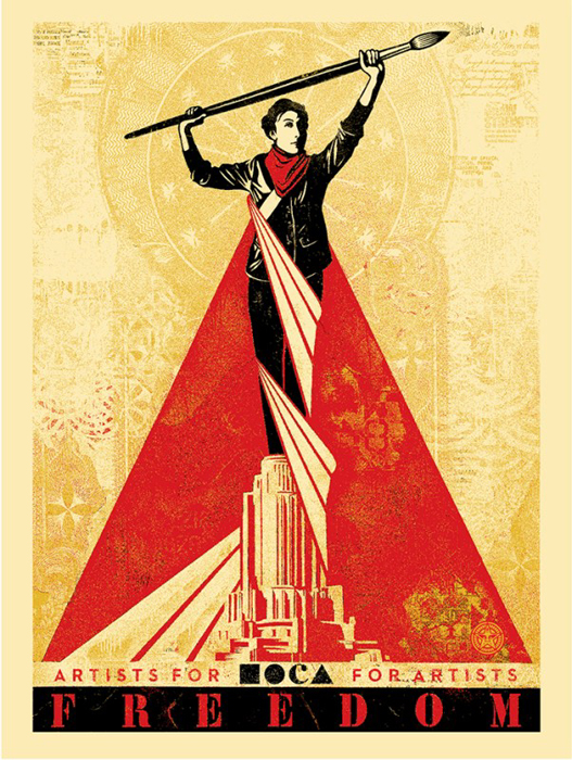 Shepard Fairey Obey silkscreen Siebdruck 2015 artists for freedom poster