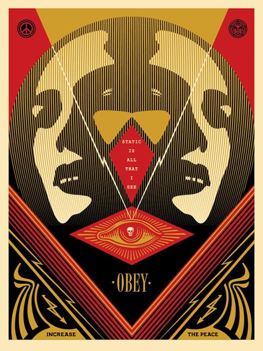 Shepard Fairey Obey silkscreen Siebdruck 2016 I see static