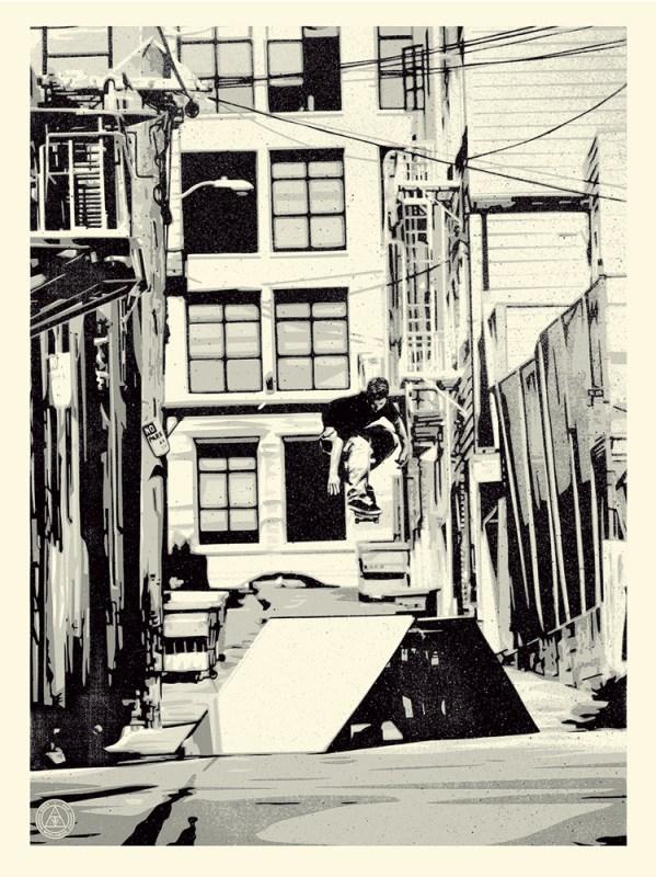 Shepard Fairey Obey silkscreen Siebdruck poster urban art 2016 X Huf