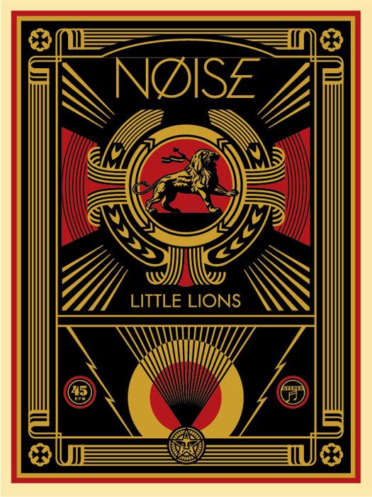 Shepard Fairey Obey silkscreen Siebdruck 2017 noise littel lions