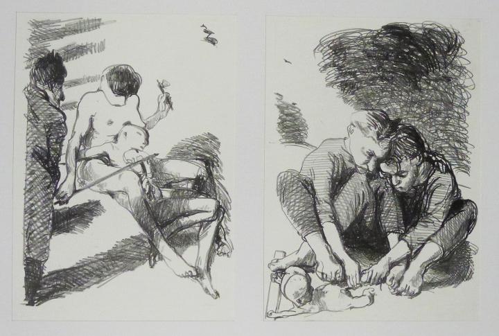 Steinzeichnungen 11 Lithografie Johannes Grützke Holzschnitt Radierung Schabradierung Offsetdruckt Druckgrafik Kaltnadelradierung