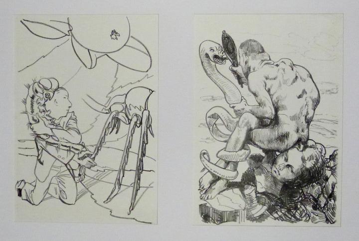 Steinzeichnungen 12 Kathedrale des Künstlers Lithografie Johannes Grützke Holzschnitt Radierung Schabradierung Offsetdruckt Druckgrafik Kaltnadelradierung