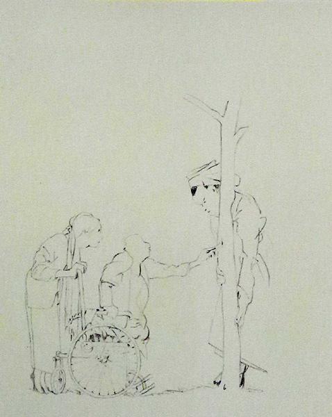 Steinzeichnungen 14 Lithografie Johannes Grützke Holzschnitt Radierung Schabradierung Offsetdruckt Druckgrafik Kaltnadelradierung