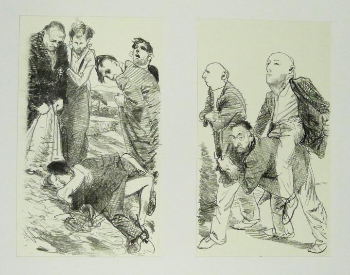 Steinzeichnungen 5 Kathedrale des Künstlers Lithografie Johannes Grützke Holzschnitt Radierung Schabradierung Offsetdruckt Druckgrafik Kaltnadelradierung