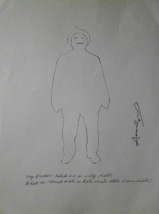 Andy Worhol original pencil silkscreen on paper