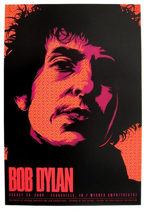 Ken Taylor screenprint offset print art of rock