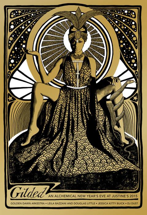 golden dawn arkestra NY Mishka Westell silkscreen Siebdruck Poster art of rock psychodelic art