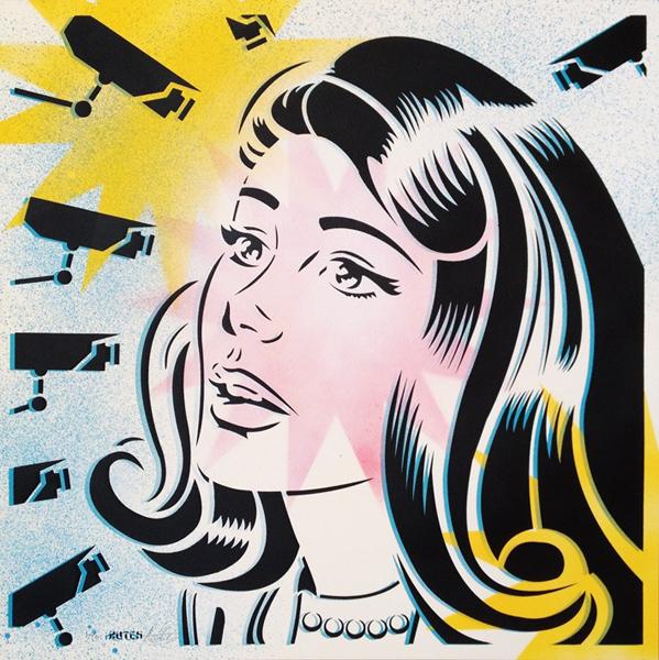 Hutch stencil street art screenprint Siebdruck