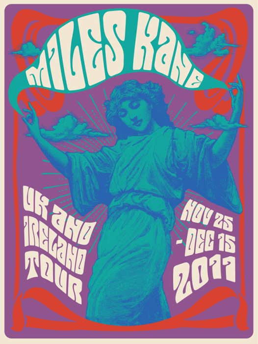 Mishka Westell miles kane silkscreen Siebdruck Poster art of rock psychodelic art